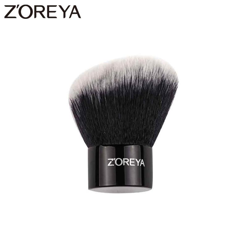 Zoreya marka yeni gelmesi süper sentetik saç eğik stil kozmetik toz karıştırma kadın makyaj kontur fırçalar allık
