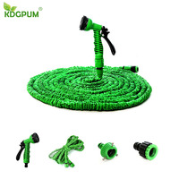 25FT-200FT Garden Hose Expandable Flexible Water Hose Plastic Hoses Handy Pipe With Spray Magic Flexible Watering Tube Hose