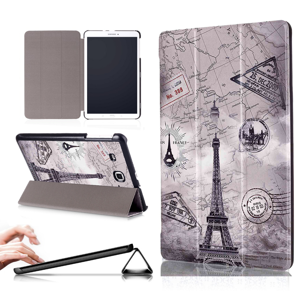 PU Leather cover ase For Samsung Galaxy Tab E 9.6 T560 T561 T567V Protective Shell funda for Samsung Galaxy Tab E 9.6 case protective pu leather case w card slot for samsung galaxy note 3 n9000 deep blue