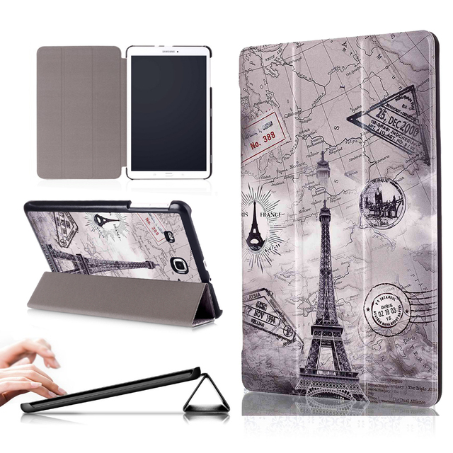 new style e49f9 c1d62 US $9.23 25% OFF|PU Leather cover case For Samsung Galaxy Tab E 9.6 SM T560  SM T561 SM T567V tablet for Samsung galaxy tab e 9.6 case-in Tablets & ...