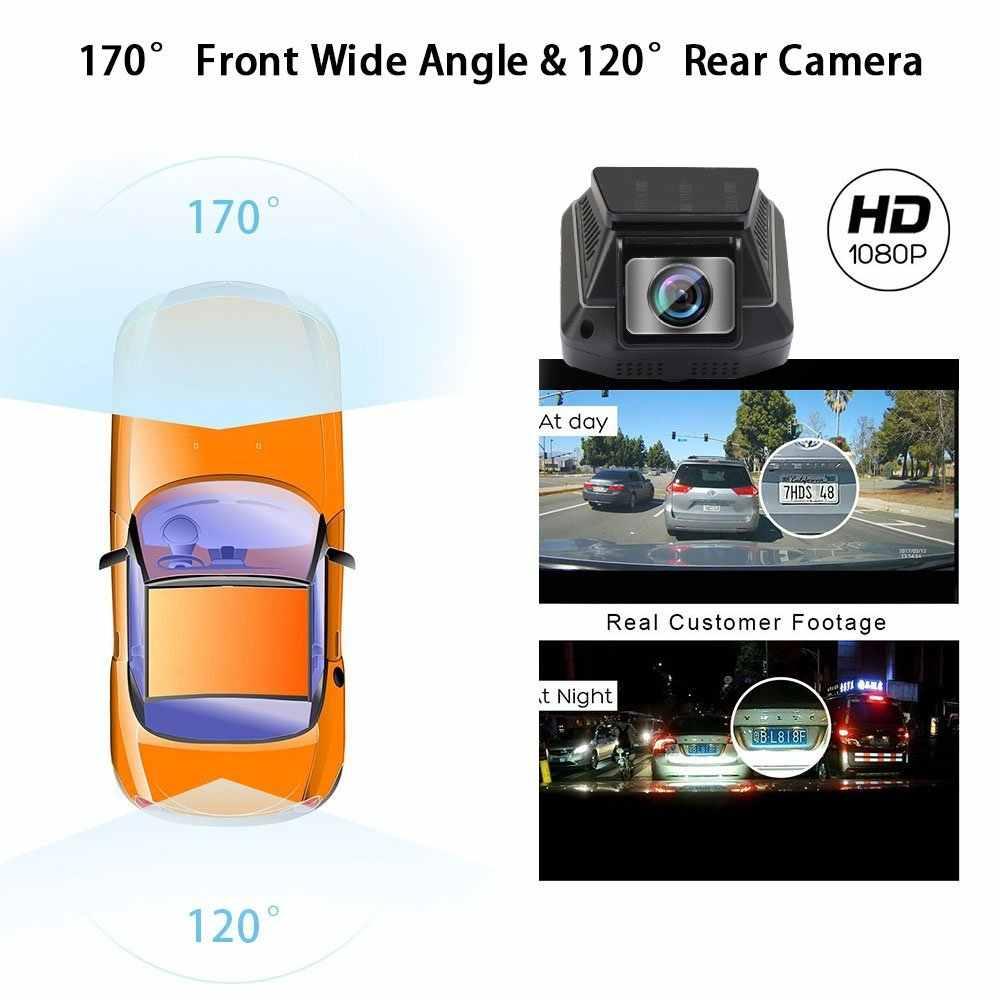 Bluavido FHD 1080 P Автомобильный видеорегистратор WiFi Dash камера WDR с функцией ночного видения IMX323 Novatek 96658 Двойная камера Автомобильный видеорегистратор циклическая запись