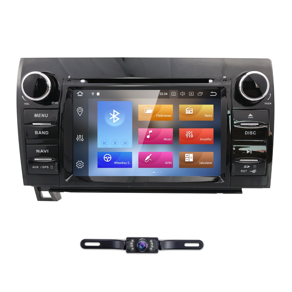 hizpo android 8 0 car stereo for toyota tundra 2007 2013 sequoia 2008 2009 2010 2011 2012 2013 2014 support rds gps rom 32g 2din [ 1000 x 1000 Pixel ]