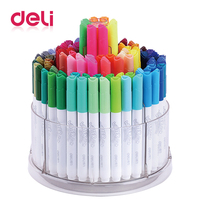 Deli 1pcs watercolor pens 100 colors/box art stationery supplies water color markers easy washed drawing painting marker pen