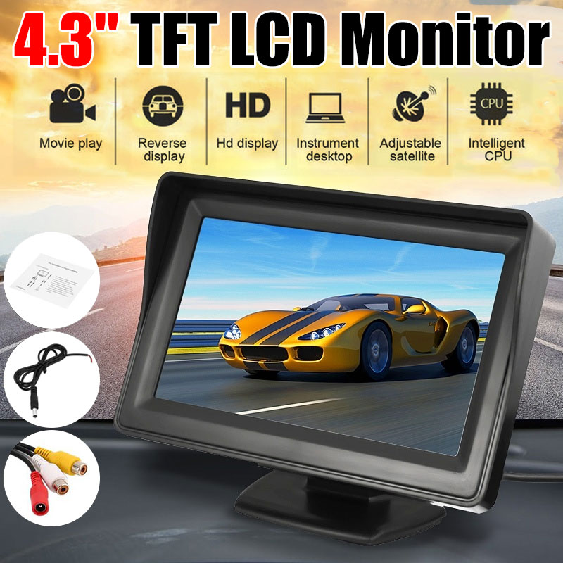 4.3 Inch TFT LCD Car Monitor Display Wireless Cameras Reverse Camera Parking System For Car Rearview Monitors
