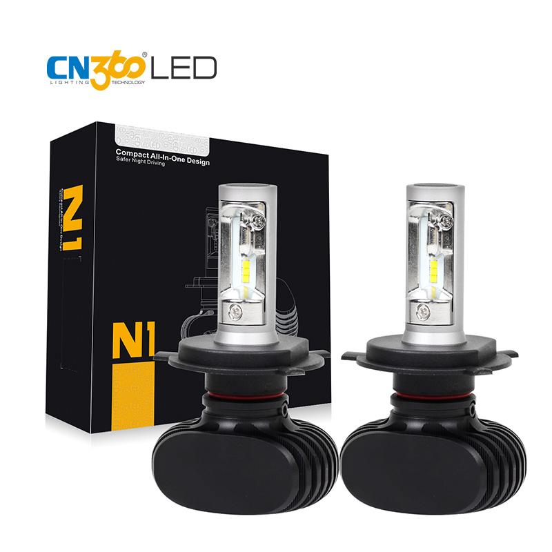 Prix pour CN360 2 PCS 4000LM 2016 Nouvelle Arrivée H4 HB2 9003 Voiture LED tête Lampe Phare Conversion Kit Auto Ampoule Tout En Un DC 12 V