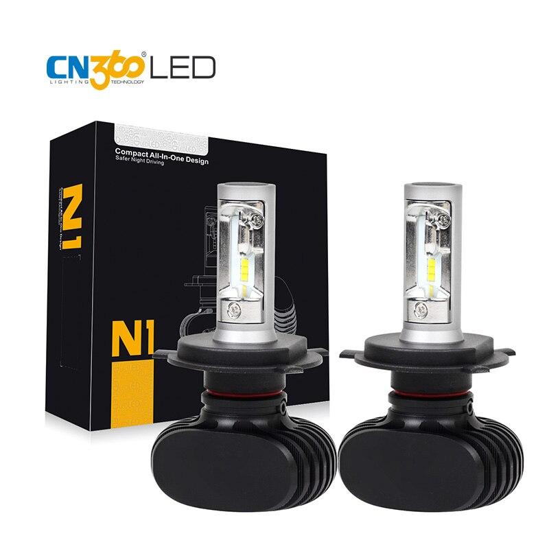 CN360 2PCS 4000LM New Arrival H4 HB2 9003 Led H7 H11 9005 9006 Car LED Headlight Auto Head LampConversion Kit Auto Bulb 12V 24V