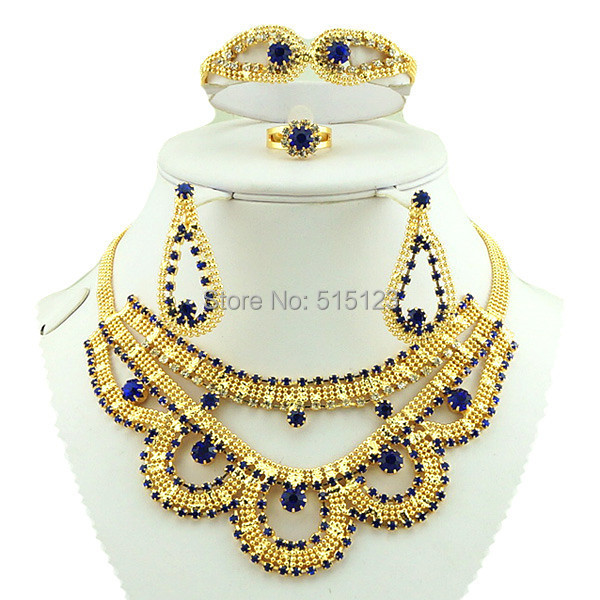 African Costume Jewelry Set Gold Sets Best Quality Women Necklace
