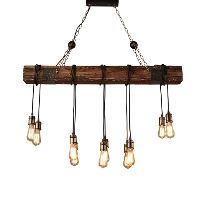 Loft Style Creative Wooden Droplight Edison Vintage Pendant Light Fixtures For Dining Room Hanging Lamp Indoor Lighting loft style iron vintage pendant light fixtures edison industrial droplight for dining room hanging lamp indoor lighting