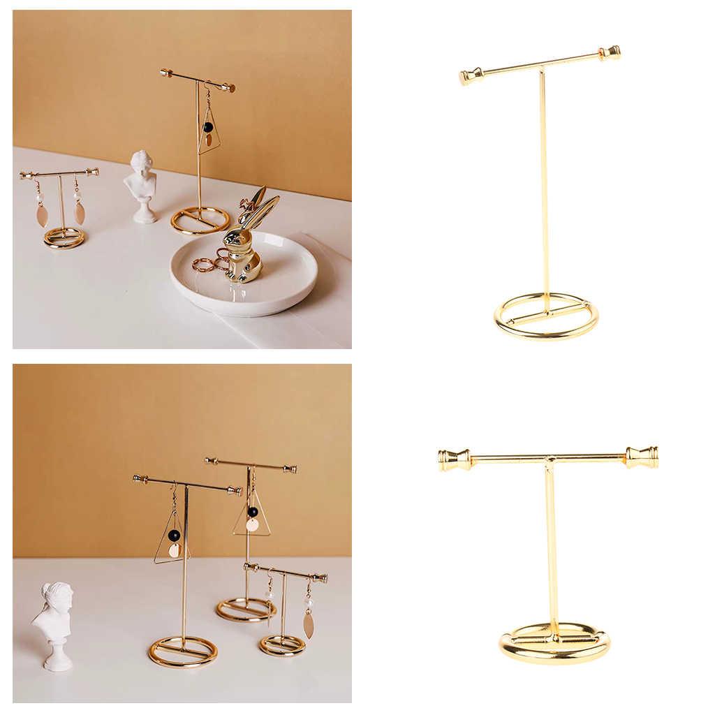 Schmuck Display Stand Zeigen Rack Metall Legierung Gold Ohrring Rack für Ohrringe Halskette Jewlry Vitrinen шкатулка для украшений