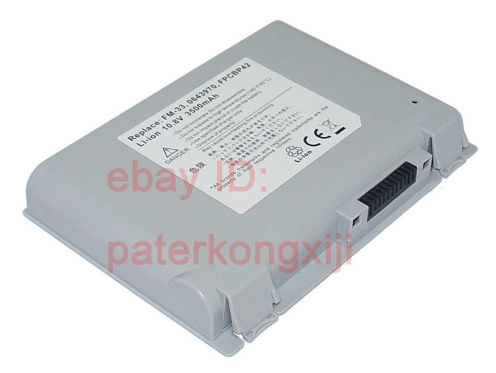 38Wh Battery For FUJITSU LifeBook C2010 C2100 C2110 C2111 C6581 C6591 C6611 0643970 FM-33 FPCBP42 аккумулятор для ноутбука for fujitsu fujitsu lifebook nh751 fpcbp275 fpcbp276 fmvnbp196 fmvnbp197 5200mah