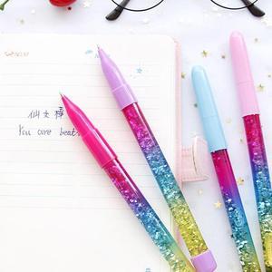 Film In Die Öl Fluss Zauberstab Kugelschreiber Kawaii Drift Glitter Crystall Glänzende Kugelschreiber Schule Büro Liefern