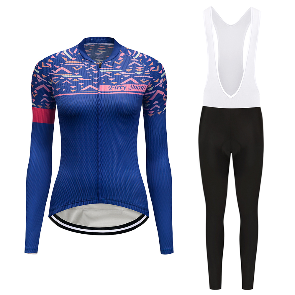 2018 China Brand Womens Cycling Jersey Wear Autumn Female Long Sleeve MTB Racing Bike Clothing Women Cartoon Bicycle Clothes