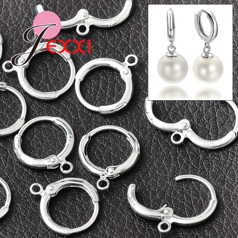 Top Quality Jewelry Accessories 925 Sterling Silver Earring Button Hot Sale DIY Handmade Parts 50 Pcs/Lot Wholesale Part
