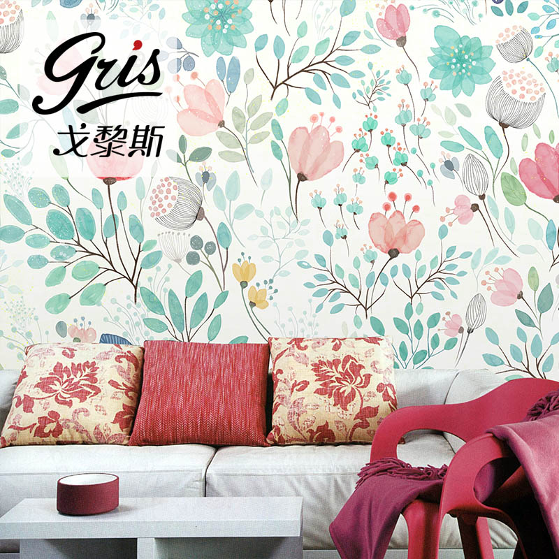 4 colors watercolor blossoms wallpaper fresh spring flower \u0026 leaves4 colors watercolor blossoms wallpaper fresh spring flower \u0026 leaves wall decal art bedroom pink blue green white large print in wallpapers from home