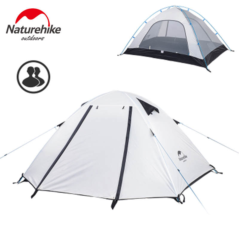 NatureHike P2 Double Tent For Camping Ultralight Double Layer Waterproof 3 Season Outdoor Backpacking Tent 5