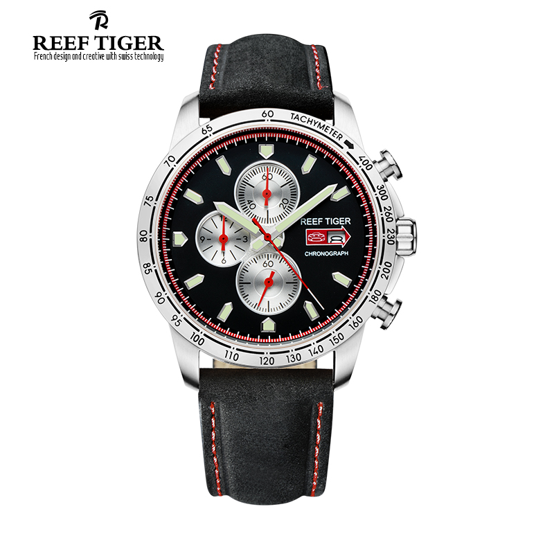 designer mens watches promotion shop for promotional designer mens reef tiger rt sport watch for men chronograph quartz watches date steel watch luminous markers rga3029