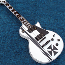 New Factory Custom Shop White Metallica James Hetfield Iron Cross Signature Electric Guitar Free Shipping