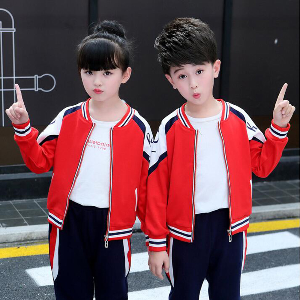 Kids Adults Primary School Uniform Teen Students Chorus Costumes Girls Boys Autumn School Uniforms Costumes tracksuit outfits