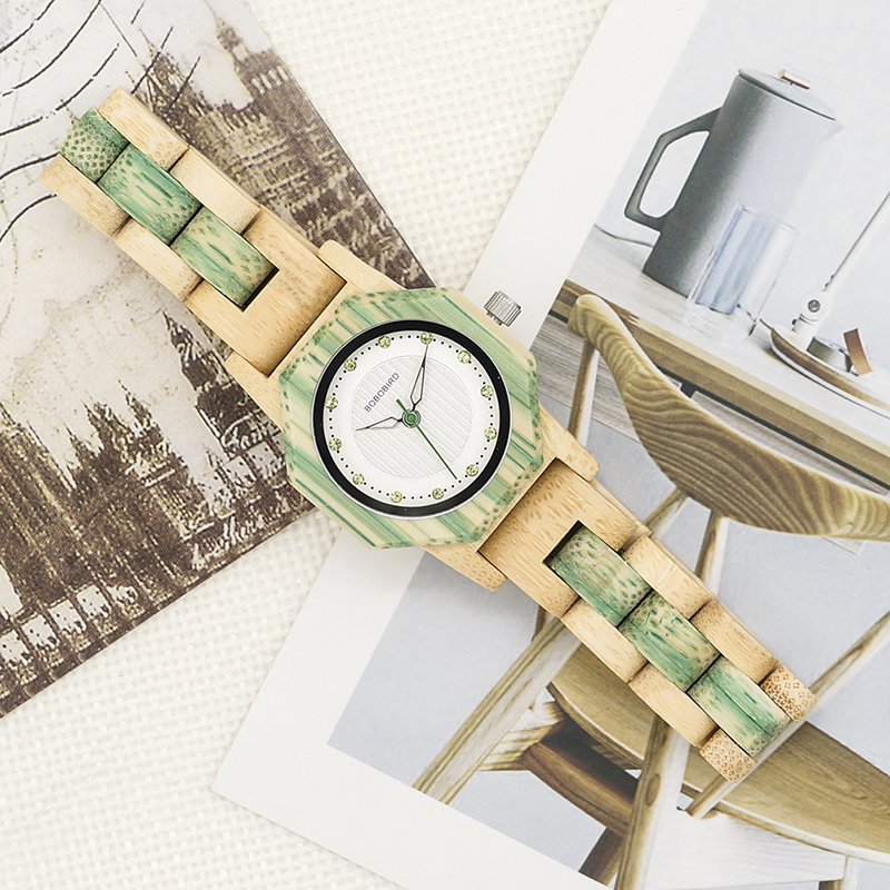 Watch Wood Wristwatches with Wooden Band Female Watches Lady Quartz Watch relogio feminino (37)