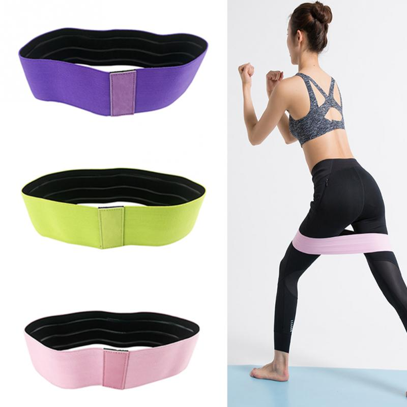 Resistance Bands Hip Anti Slip Widen Rubber Circle Band Exercises Braided Elastic Band Hip Lifting Resistance Band #19