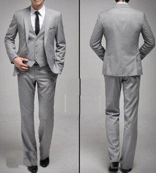 Best New Arrival Custom Made Light Gray Groom Mens Tuxedo Suits With Gray,Bespoke Light Gray Tuxedo,Tailored Lapel Mens Suits