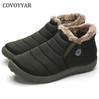 COVOYYAR 2019 Warm Fur Unisex Snow Boots Winter Shoes Fashion Cold Weather Ankle Boot Comfort Shoes Sizes 35 45 MBS585