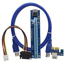Centechia 60cm Super stable PCI-E PCI E Express 1x to 16x graphics Card Riser Extender Adapter For Bitcoin Miner Machine