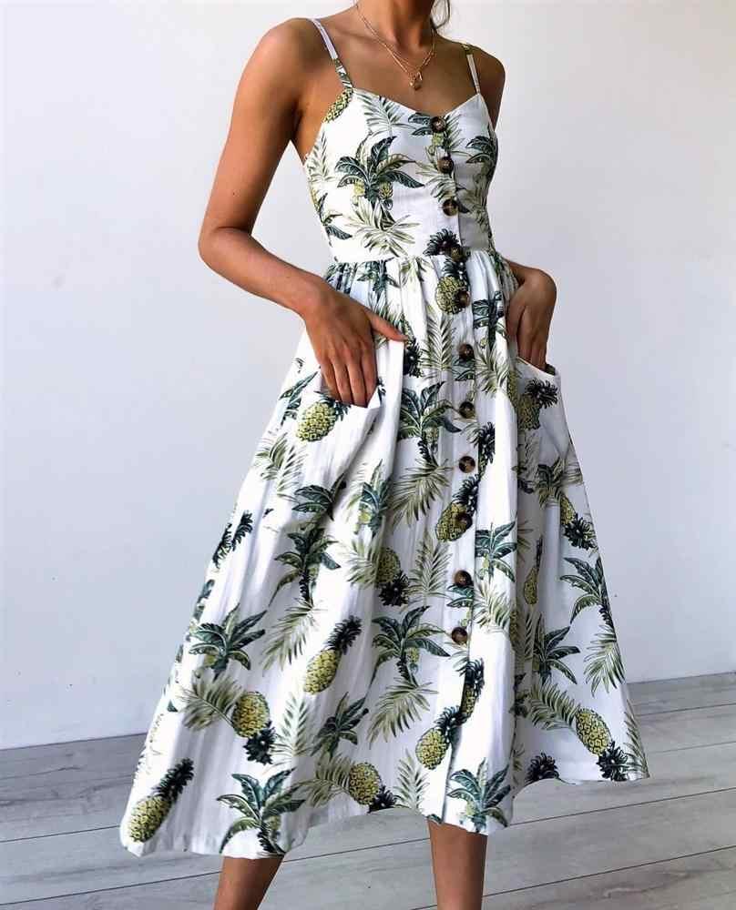 Женский цветочный принт, длинное богемное пляжное летнее женский сарафан, сексуальный v-образный вырез, без рукавов, ремень, макси, винтажное платье, Vestido
