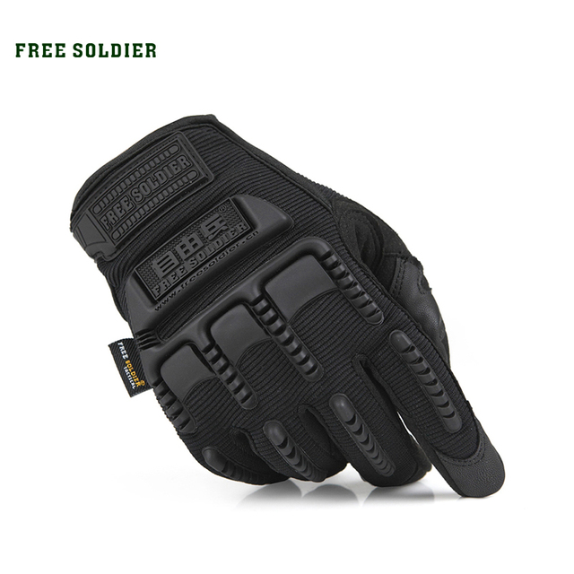 FREE SOLDIER Outdoor Sport Cycling Tactical Racing Touch Screen Gloves Non-slip Windproof Training Gloves