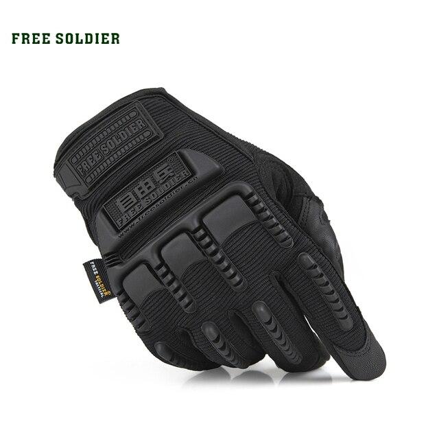 FREE SOLDIER Тактические защитные альпинистские велосипедные перчатки , износостойкие противоскользящие с защитой от ветра, сенсорные пальцы,  Особый нейлон