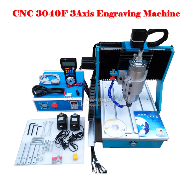 3040F 3Axis mini CNC Router 1500W Wood Metal Engraving Milling Machine with the Wireless Handle and parallel port cnc 5axis a aixs rotary axis t chuck type for cnc router cnc milling machine best quality