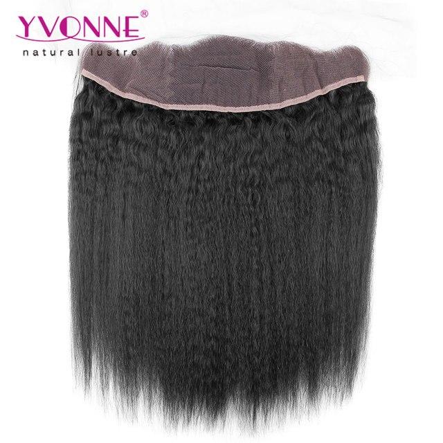 YVONNE Kinky Straight Brazilian Lace Frontal Closure 13.5x4,100% Unprocessed Virgin Hair Brazilian Lace Frontal