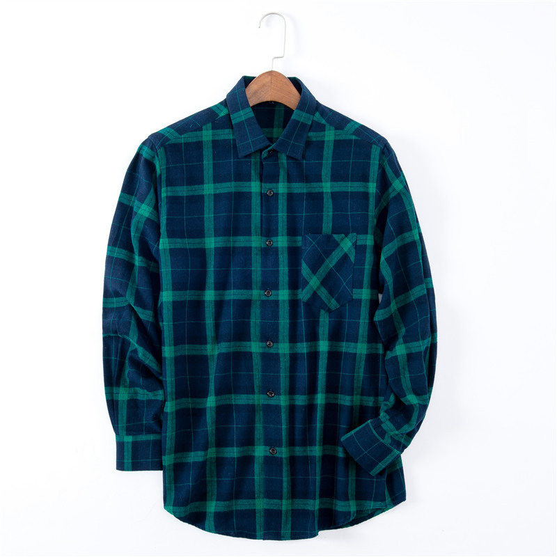 2019 Men 39 s 100 Cotton Casual Plaid Shirts Pocket Long Sleeve Slim Fit Comfortable Brushed Flannel Shirt Man Tops Clothes XT698 in Casual Shirts from Men 39 s Clothing