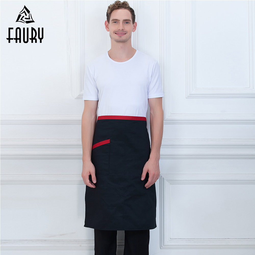 Wholesale Unisex Adjustable Half Apron Food Service Kitchen Chef Restaruant Food Service Waiter Cleaning Cafe Work Wear Uniform