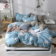 ParkShin Elegant Flower Bedspread Comfortable Elastic Bed Sheet Fitted Sheet European Bedding Set Rubber Sheet Double Bedclothes