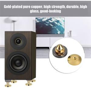 Image 4 - 4 pièces/ensemble haut parleur Isolation pointes pied pied HiFi haut parleur ampli CD cône socle coussinets 28x25mm