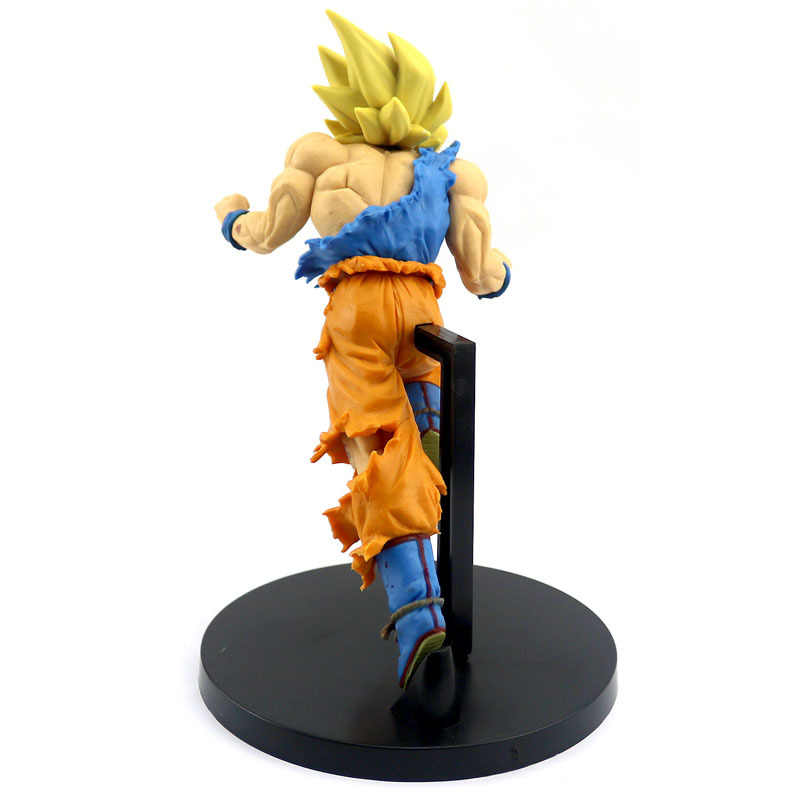 NOVA 20 cm Dragon Ball Z Goku Figura Brinquedo Salto 50th Anniversary Anime DBZ Son Goku Modelo Boneca Presente para crianças Figura de Ação Brinquedos