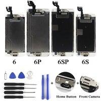 10 шт. полный lcd для iPhone 6 6 Plus 6 S 6 S Plus ЖК дисплей Дисплей Полная сборка с Сенсорный экран с кнопка «Домой» и Фронтальная камера