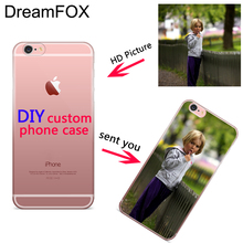 DREAMFOX Custom DIY Design for iPhone 11 Pro XR XS Max 4 5C 5 5S SE 6 6S 7 8 Plus X Soft Silicon TPU Cover Printed Case