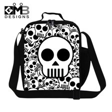 Skull Newest design of 3 d printing World Cup lunch bag, hang put food package, boys and girls go to school lunchboxes