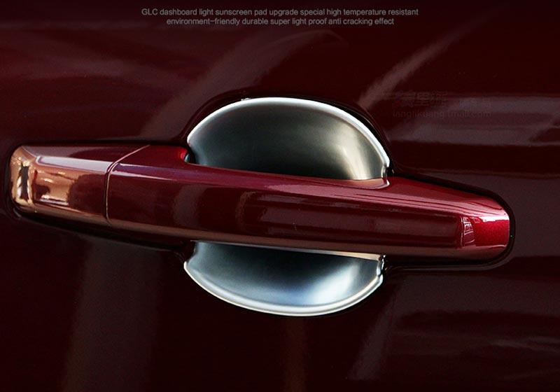 XF Car Accessories 4pcs Car Chrome Door Handle Bowl Cover Trim For Jaguar XE