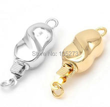 Figure 8 insert clasp, 19 x6. 8 mm, manual accessories materials, pearl crystal necklace, bracelet clasp.-L40