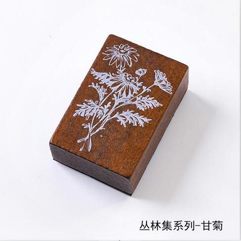 Винтажные лесные травянистые растения, украшение Луны, штамп, деревянные и резиновые штампы для скрапбукинга, канцелярские принадлежности, сделай сам, стандартный штамп - Цвет: 5