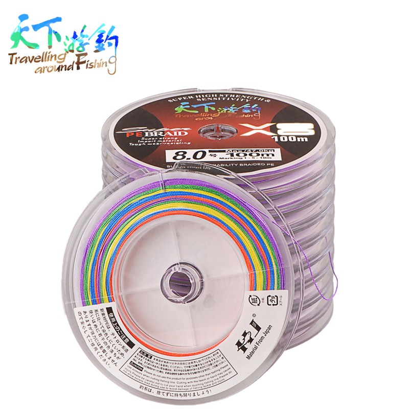 8 braided pe fishing line test 6 47kg 100m plate for Fishing line test