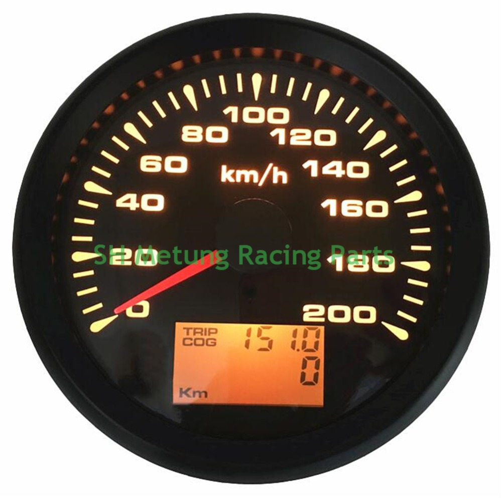 1pc New Style 85mm GPS Speedometers 0 200km/h Waterproof GPS Speed Odometer Gauges Trip Meters 9 33vdc for Car Truck Motorcycle