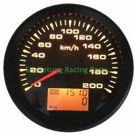 1pc New Style 85mm GPS Speedometers 0 200km/h Waterproof GPS Speed Odometer Gauges Trip Meters 9 33vdc for Car Truck Motorcycle