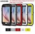 ЛЮБОВЬ МЭЙ Призма Противоударный Жизнь Водонепроницаемый Металлический Корпус для SAMSUNG Galaxy Galaxy S3 S4 S5 S6 S7 Края Примечание 7 3 4 5 Края