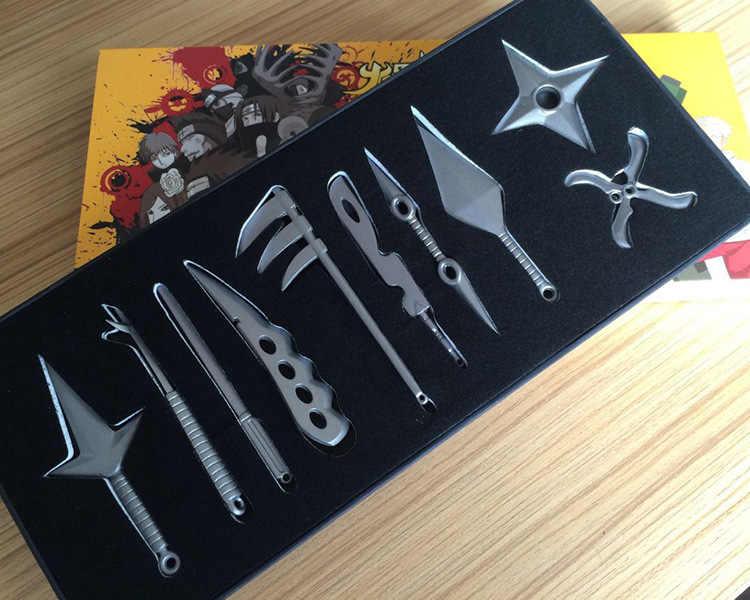 ناروتو كوناي سكين رمي ناروتو سلاح اللعب النينجا رمي السكاكين سكين ناروتو المعادن لعبة السيف أسلحة كوسبلاي