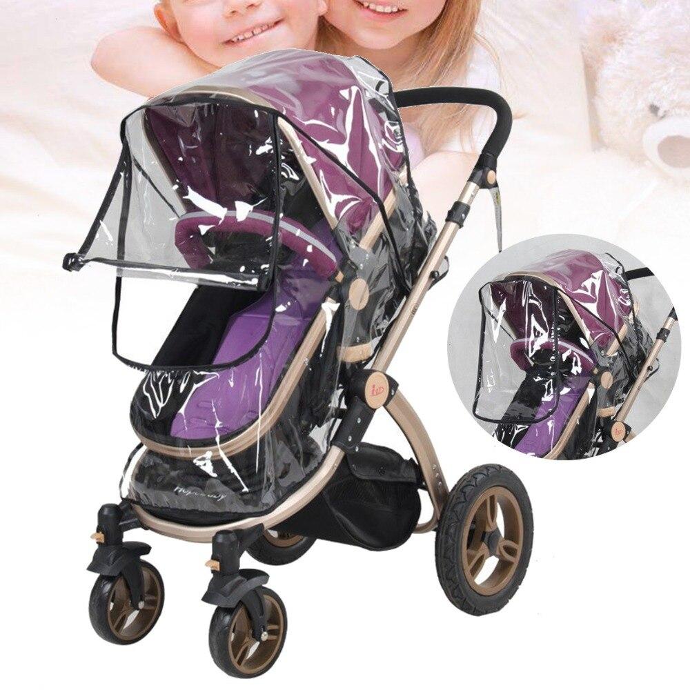 New Stroller Rain Cover Kids Infant Pushchair Transparent Windproof Dust Shield