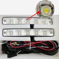 5 LED Universal Car Auto Driving Lamp Fog Light 12V Led DRL Daytime Running Light For